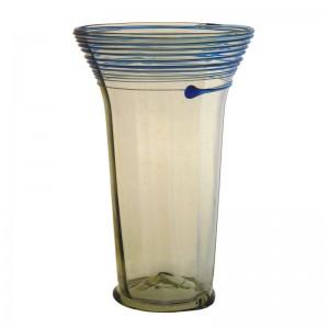 Gotisches Glas mit blauem Spinngewebe, groß