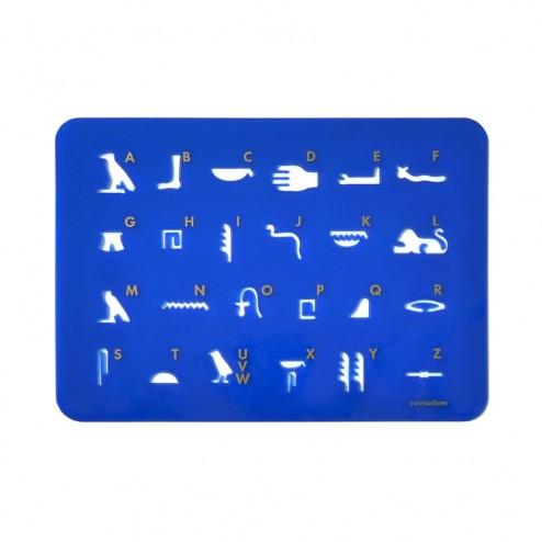 """Schablone """"Hathor"""" blau"""
