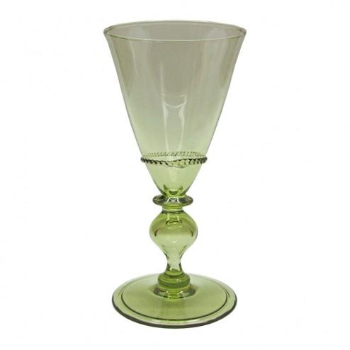 venezianisches Weinglas mit Kränzchen und Nodus