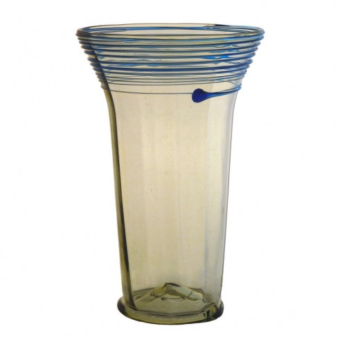 Gotisches Glas mit blauem Spinngewebe, klein