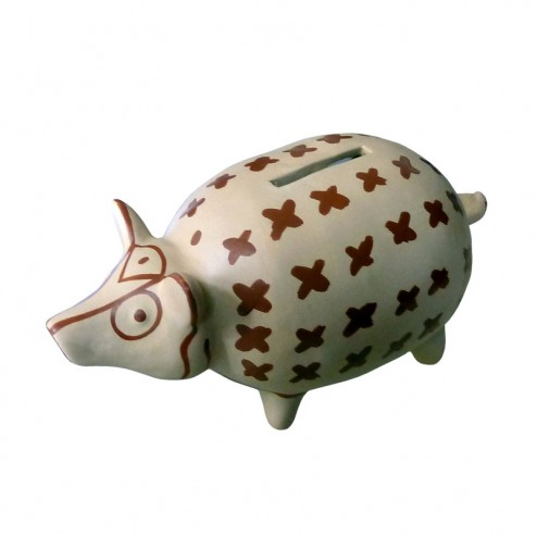 """Sparschwein """"Troja"""" aus Keramik"""
