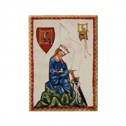 """Magnet """"Walther von der Vogelweide"""", Codex Manesse"""