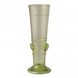langes Stangenglas mit Noppen und Ringen
