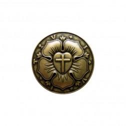 """Magnet """"Lutherrose"""" goldfarben-antik"""