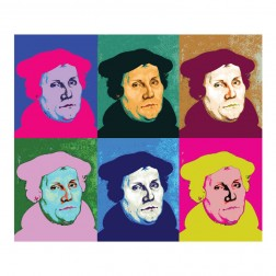 "Brillentuch ""Martin Luther"" Pop-Art"