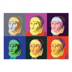 """Postkarte """"Katharina Bora"""" Pop-Art"""