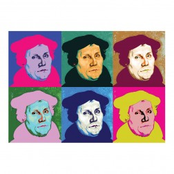 "Postkarte ""Martin Luther"" Pop-Art"