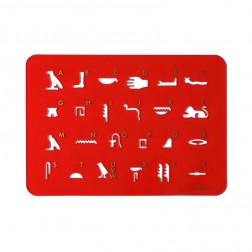 """Stencil """"Hathor"""" red"""